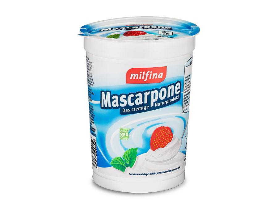 Emballage alimentaire Mascarpone PS